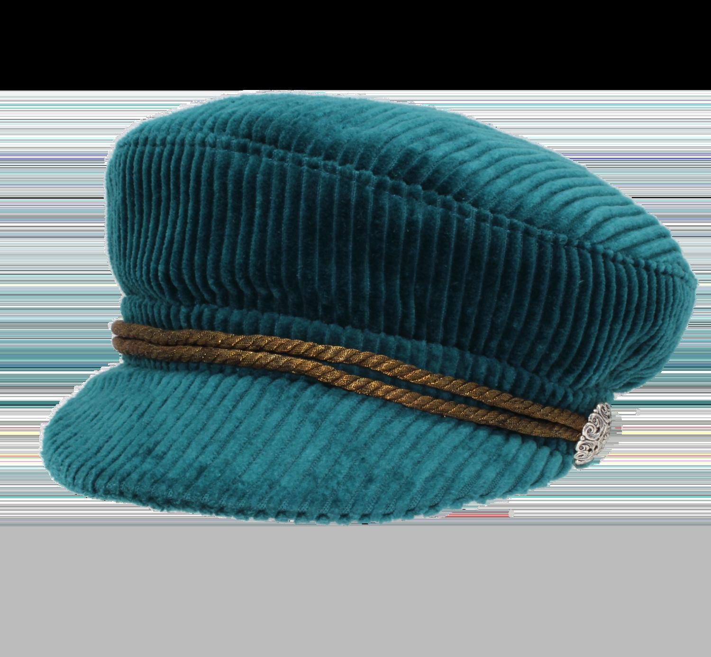 Hüte von Hand Sailor Cap Cord petrol