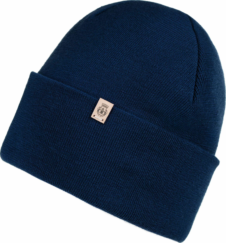 Pure Merino Mütze Blau