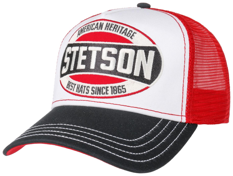 Stetson Trucker Cap Heritage schwarz rot