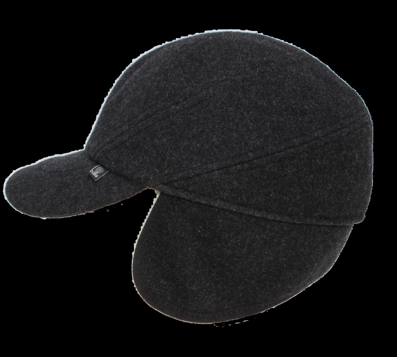 Basecap mit Ohrenklappen uni Velour 59 cm
