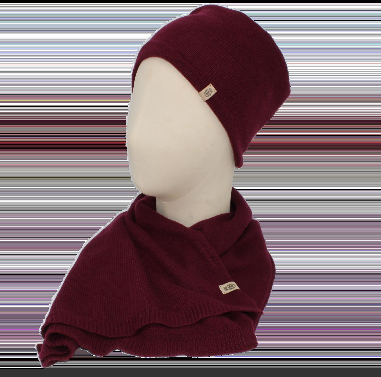 Essentials Set Schal und Basic Mütze
