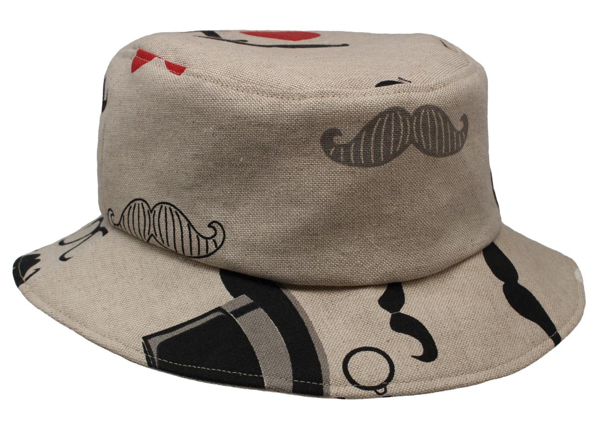 Hüte von Hand Bucket Hat Moustache