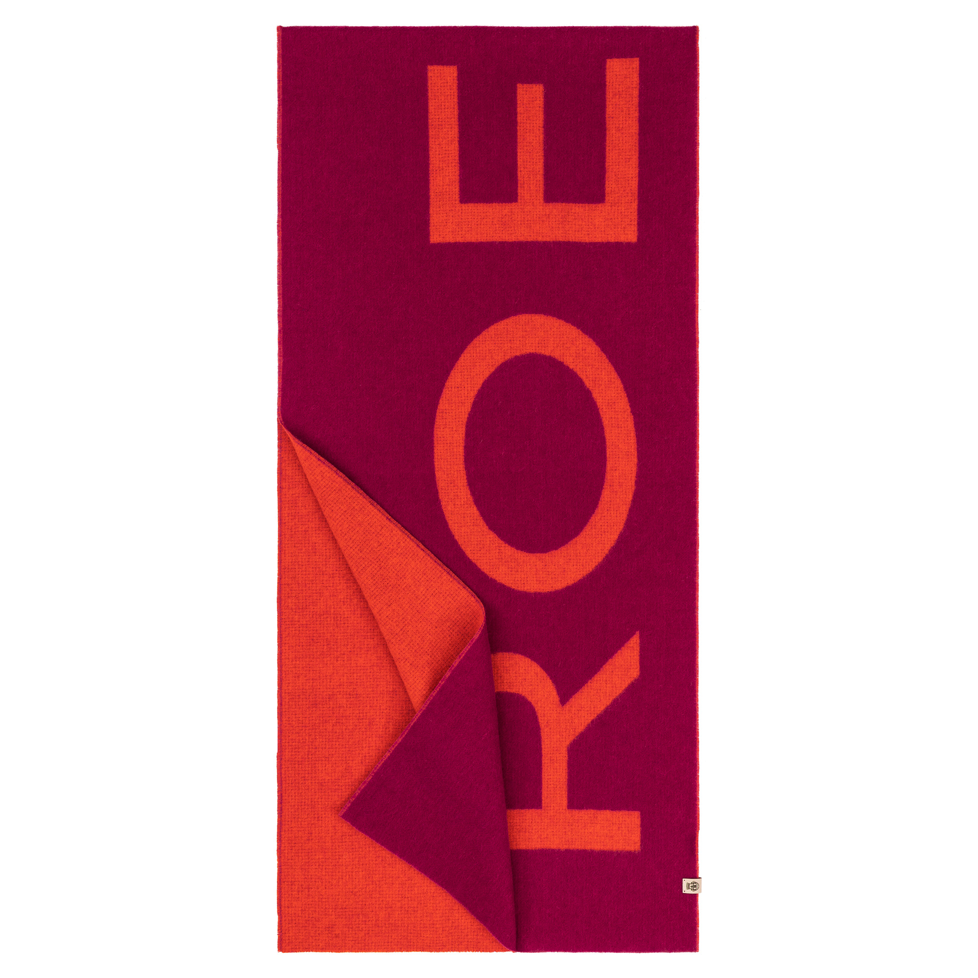 Logo Schal magenta