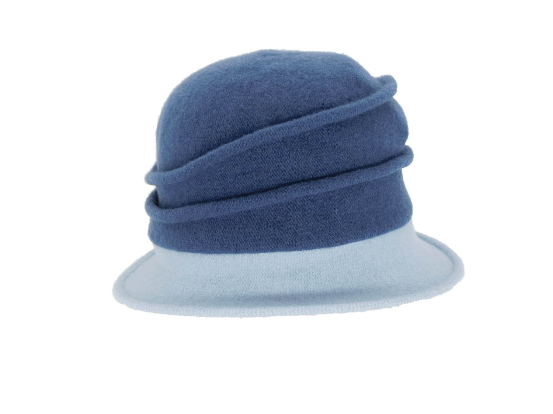 Hüte von Hand Calotta Bicolor  denim-hellblau