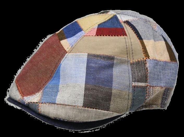 Flatcap Patchwork 56 blaupatchw