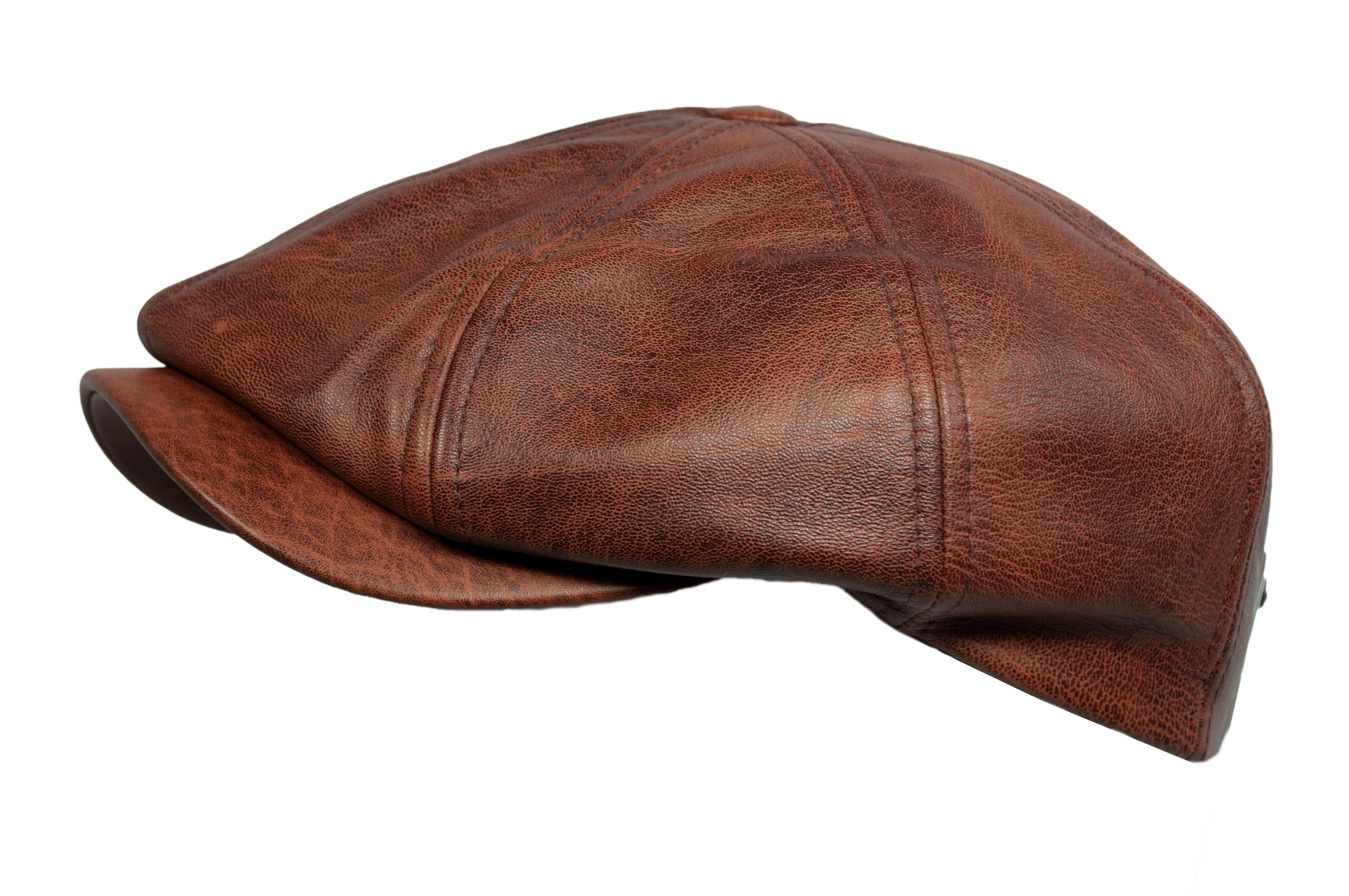 Balke Mütze 8-teilig - slim line- Schaf-Leder antik