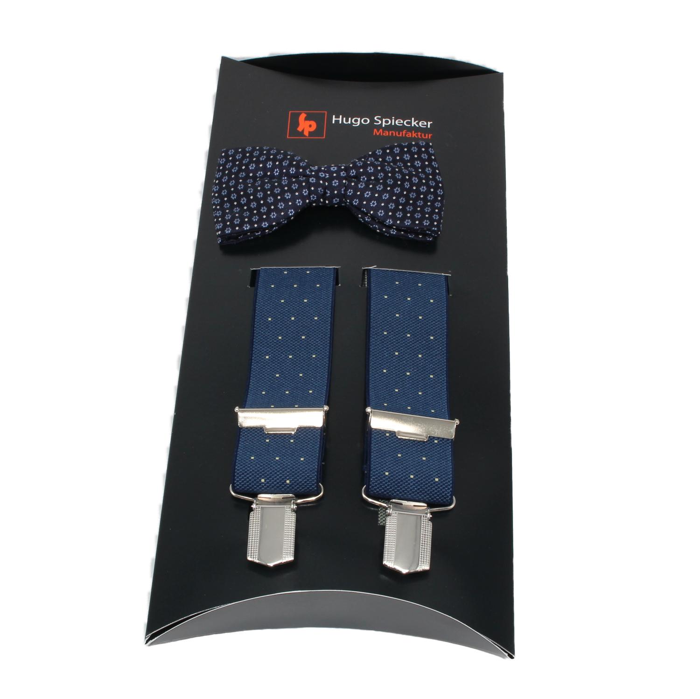 Hugo Spiecker elegante Schleife mit passenden Hosenträgern