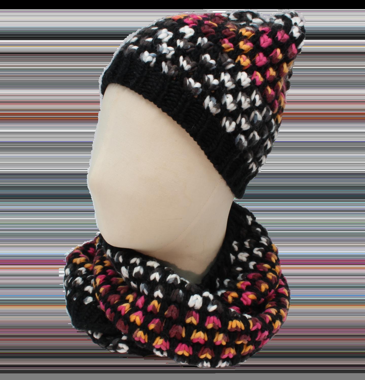 Punti multicolor Schal und Mütze